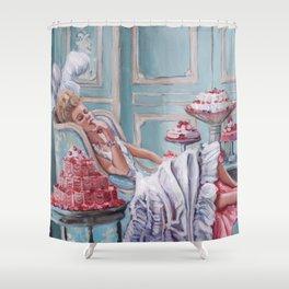 Marie Antoinette Eats Cake Shower Curtain