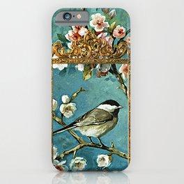 Blue, Birds, Balloon and Botanics iPhone Case