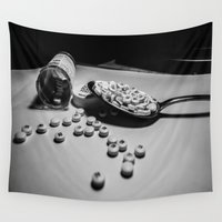 medicine Wall Tapestries featuring Spoonful of Sugar Makes the Medicine Go Down by Nele Art