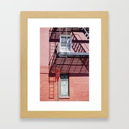 Stop in the shadows NYC Framed Art Print