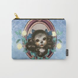 Kitschy Blue Puppy Carry-All Pouch