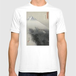 Dragon Rising to the Heavens at Mount Fuji by Ogata Gekko T-shirt