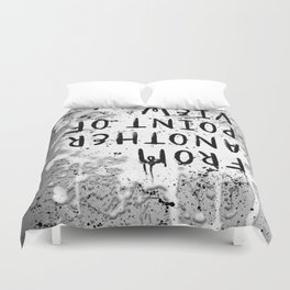 TEXT ART From another point of view | paint & splashes | grey Duvet Cover