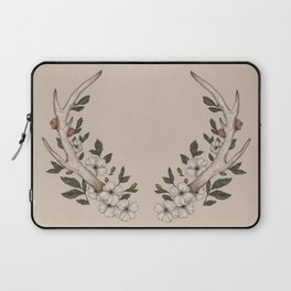 Floral Antler Laptop Sleeve