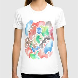170623 Colour Shapes Watercolor 2   Abstract Shapes Drawing   Abstract Shapes Art  Watercolor Painti T-shirt