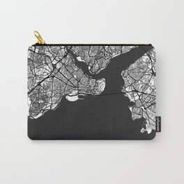 Istanbul Map Gray Carry-All Pouch