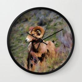 Rocky Mountain Bighorn Sheep Wall Clock