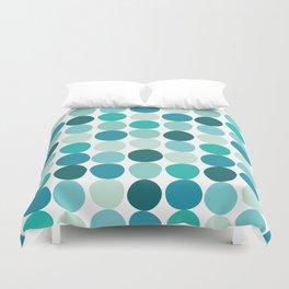 Midcentury Modern Dots Blue Duvet Cover