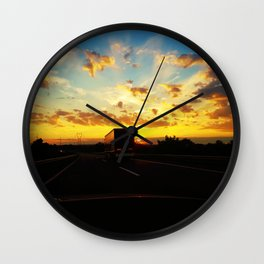 behind a truck Wall Clock