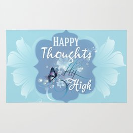 Happy Thoughts fly High Rug