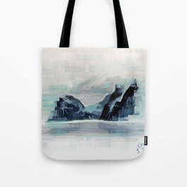 Rectangles - Perspective of Milford Sound Tote Bag