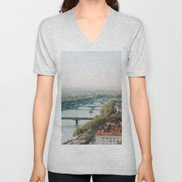 Sunrise over Lyon Unisex V-Neck