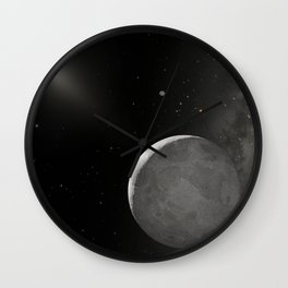 927. Hubble Finds Tenth Planet is Slightly Larger than Pluto Artist Concept Wall Clock