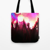 rave Tote Bags featuring rave by xp4nder
