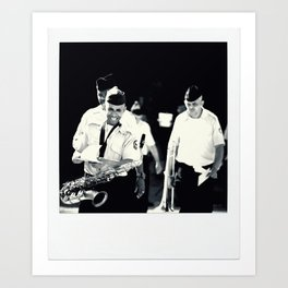 The Band Marched On: I Art Print