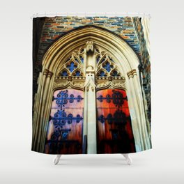 gothic doors and windows Shower Curtain