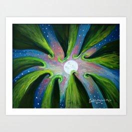 Moonlight Meeting Art Print