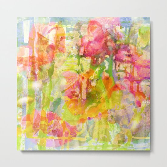 abstract and flowers Metal Print
