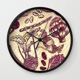Eat Your Purple Veggies Wall Clock