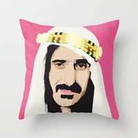 zappa Throw Pillows featuring ZAPPA! by f_e_l_i_x_x