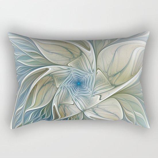 A Floral Dream, Abstract Fractal Art Rectangular Pillow