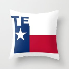 Texas Text Flag Throw Pillow