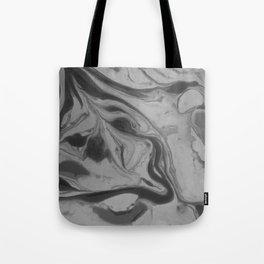 Black and grey marble Tote Bag