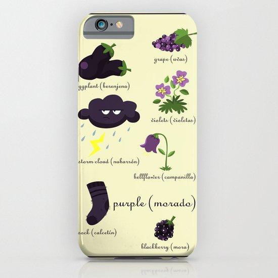 Colors: purple (Los colores: morado) iPhone & iPod Case