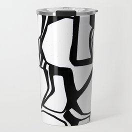 the nuts and bolts of it, graphic, minimal, industrial, monochrome Travel Mug