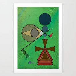 Crazy Golf Abstract Putting Art Print