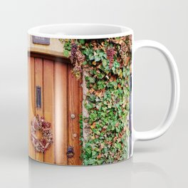 Country Wood Door in the Cotswolds England Coffee Mug