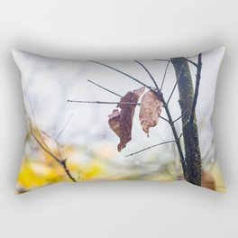 Orange leaves, trying to stay alive Rectangular Pillow