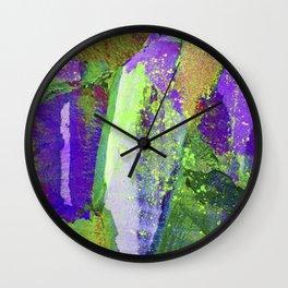 abstract nature // lake district Wall Clock