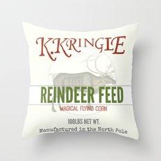 Christmas Reindeer Feed sack Throw Pillow