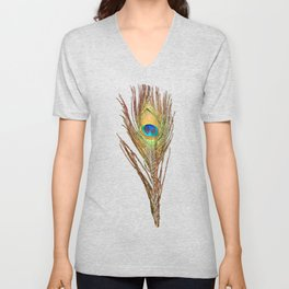 Peacock Feathers Invasion - Wave Unisex V-Neck