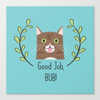 lil bub Canvas Prints featuring Lil Bub by Madeline Audrey