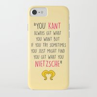 hedwig iPhone & iPod Cases featuring Hedwig, Kant & Nietzsche by byebyesally