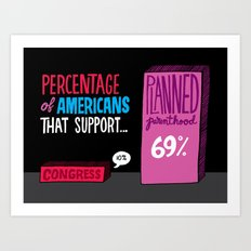 Congress vs Planned Parenthood Art Print