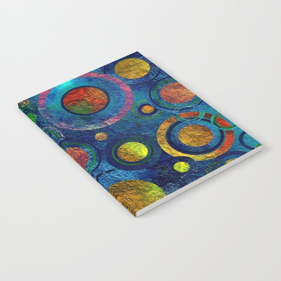 Full of Golden Dots - color variation Notebook