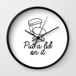Put A Lid On It Burlap Print | Bathroom Wall Clock