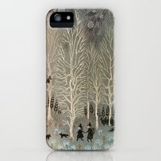 White Woods Slim Case iPhone (5, 5s)