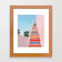 Rainbow Stairway Framed Art Print