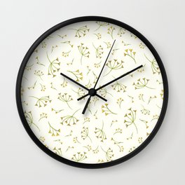 Flora Heart Collection – Yellow Branches Wall Clock