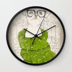 Hipster Chiuaua Wall Clock