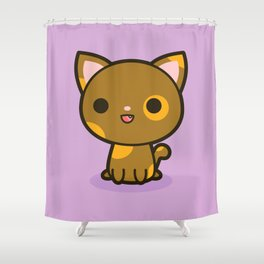 Kawaii Kitty 4 Shower Curtain
