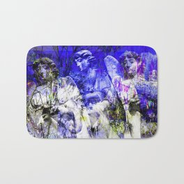 Blue Symphony of Angels Bath Mat