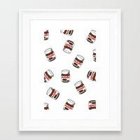 nutella Framed Art Prints featuring Nutella by Iotara