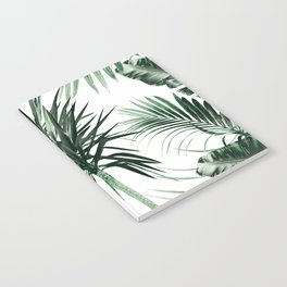 Tropical Summer Vibes Leaves Mix #2 #tropical #decor #art #society6 Notebook