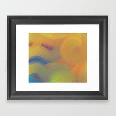 Blue Striped Sky Framed Art Print