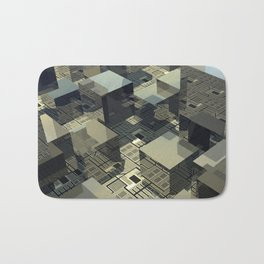 Brown Cubes On Motherboard Bath Mat